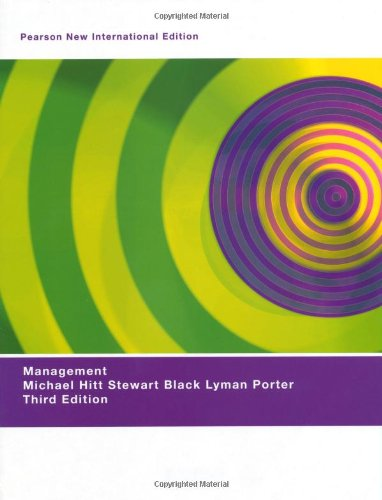 Management: Pearson New International Edition