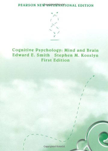 Cognitive Psychology: Pearson New International Edition