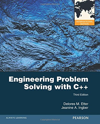 Engineering Problem Solving with C++ (International Version)