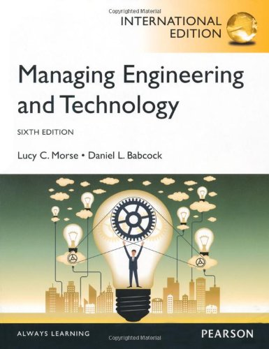 Managing Engineering and Technology