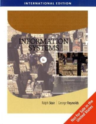 Information Systems, International Edition