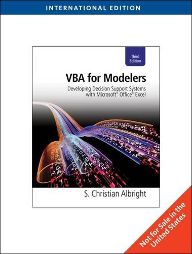 VBA for Modelers: Developing Decision Support Systems with Microsoft® Office® Excel, International Edition (with Premium Online Content Printed Access Card)