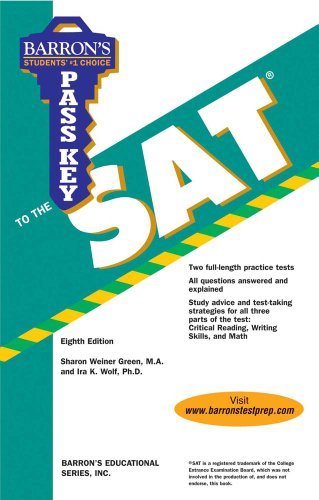 Pass Key to the Sat, 8th Ed (Barron s Pass Key to the SAT)
