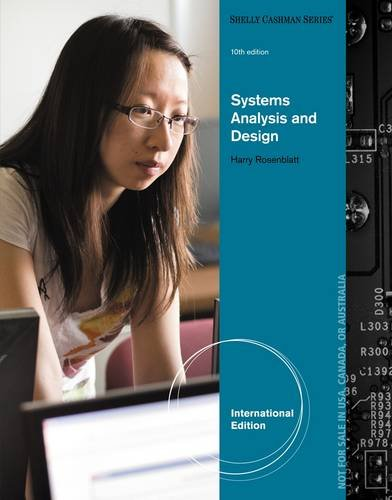 Systems Analysis and Design (Shelly Cashman)