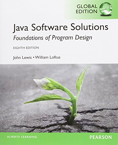 Java Software Solutions: Global Edition