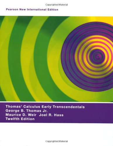 Thomas  Calculus Early Transcendentals
