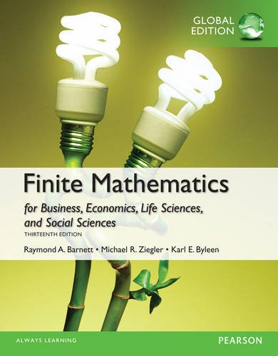 Finite Mathematics for Business, Economics, Life Sciences and Social Sciences, Global Edition
