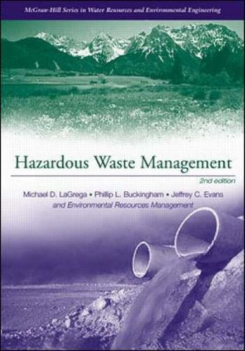 Hazardous Waste Management (McGraw-Hill International Editions: Biological Sciences Series)